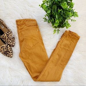 Mustard Yellow Jeans Skinny